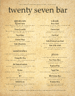 American Beer Food Menu