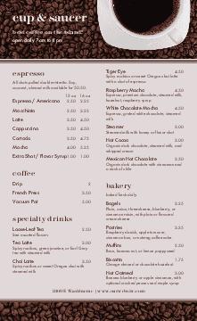 American Cafe Menu