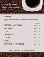American Cafe Menu Poster