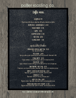 American Coffee Menu