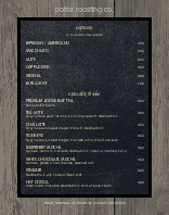 Coffee Menu Poster