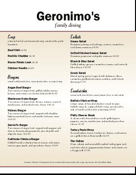 Family restaurant menu template musthavemenus for American cuisine menu