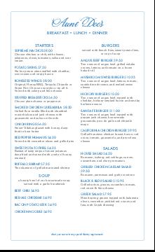 family menu template