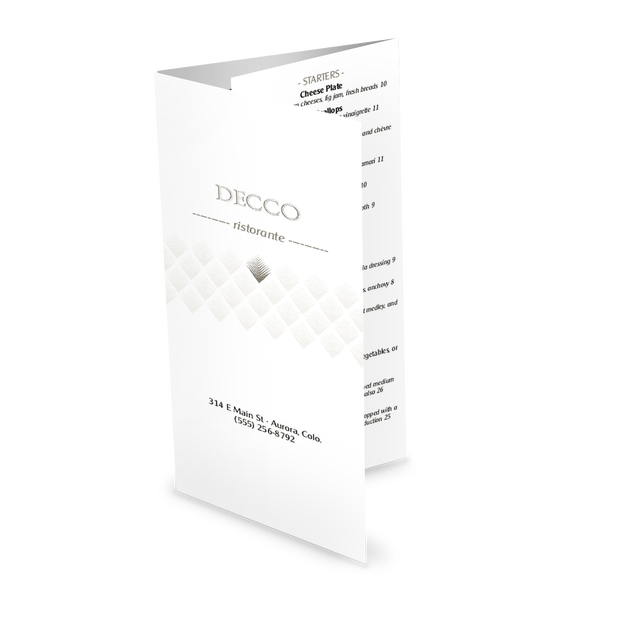Customize Art Deco Trifold Menu