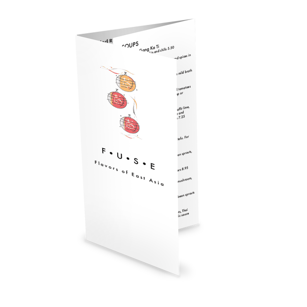 Customize Asian Fusion Takeout Menu