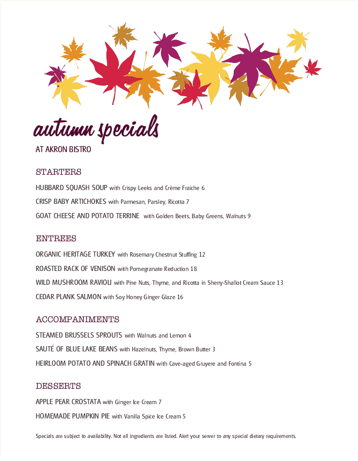 Daily Special Menu Templates That Are Easy To Edit