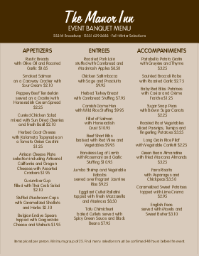Catering Menu Templates and Designs - MustHaveMenus