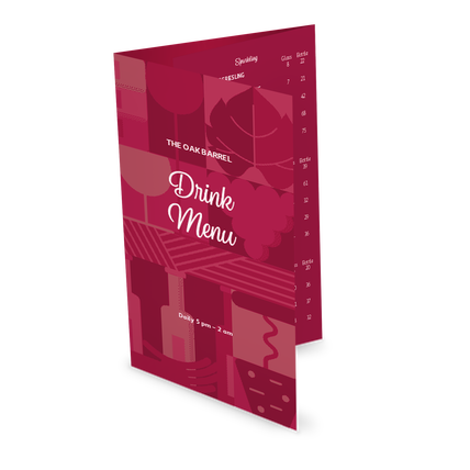 View Bar Drinks Folded Menu