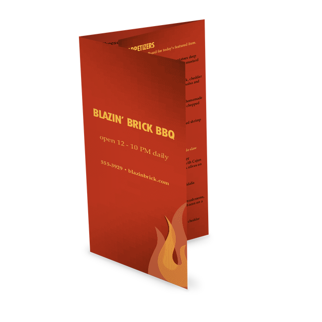 Customize Barbecue Grill Takeout Menu