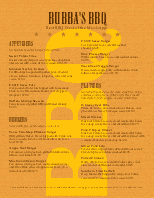 Barbeque Restaurant Menu