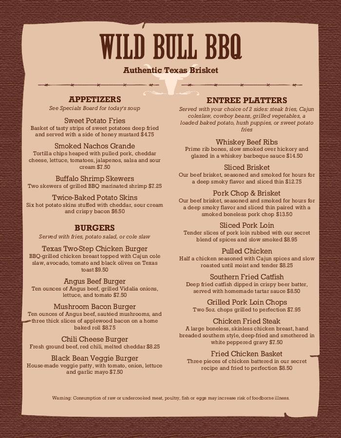 best bbq menu templates easy to customize musthavemenus