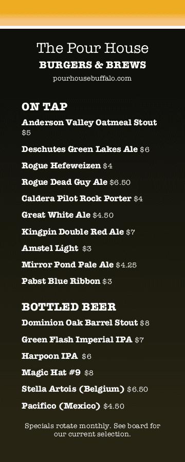 Happy hour menu templates and designs musthavemenus beer bar happy hour menu maxwellsz