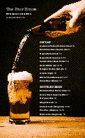 Beer Bar Menu