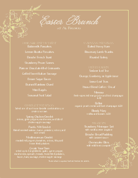 Best Easter Brunch Menu
