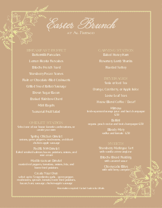 Customize Best Easter Brunch Menu