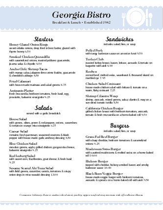 Customize Best Family Restaurant Menu