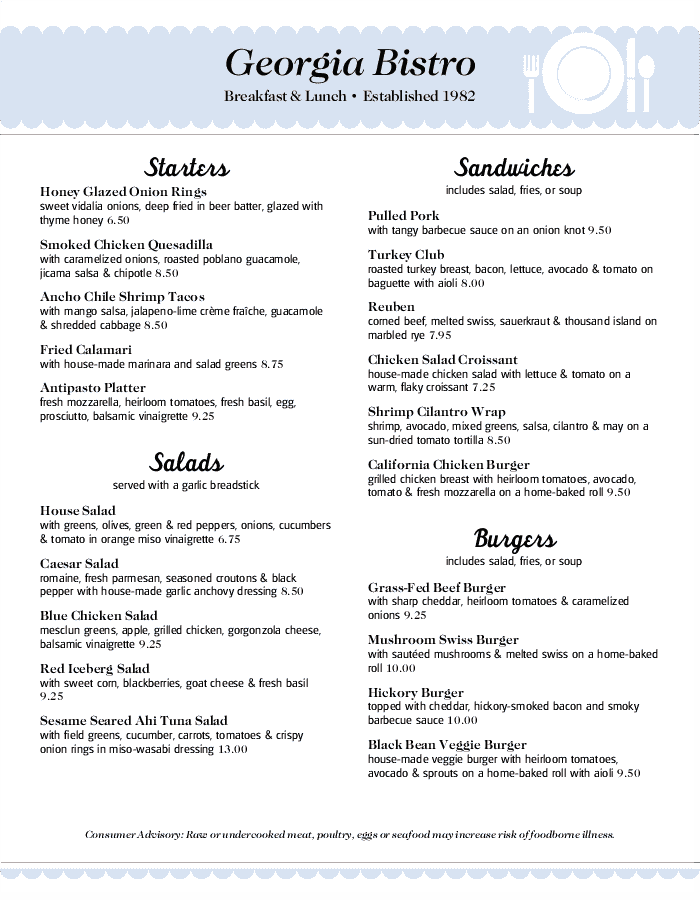 family restaurant menu templates that are easy to edit musthavemenus