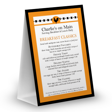 Bistro Breakfast Table Tent