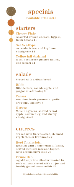 Customize Bistro Happy Hour Menu