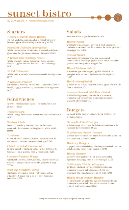 Customize Bistro Menu Long Page 2