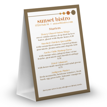 View Bistro Table Tent