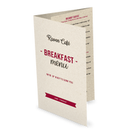 Breakfast Folded Menu