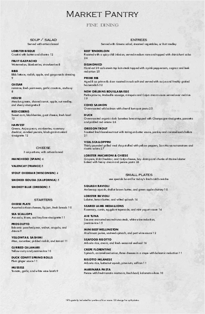 Customize British Restaurant Tabloid Menu