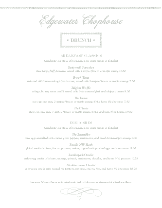 Customize Brunch Specials Menu