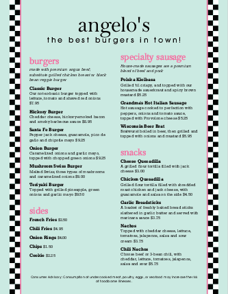 Customize Burger Restaurant Menu