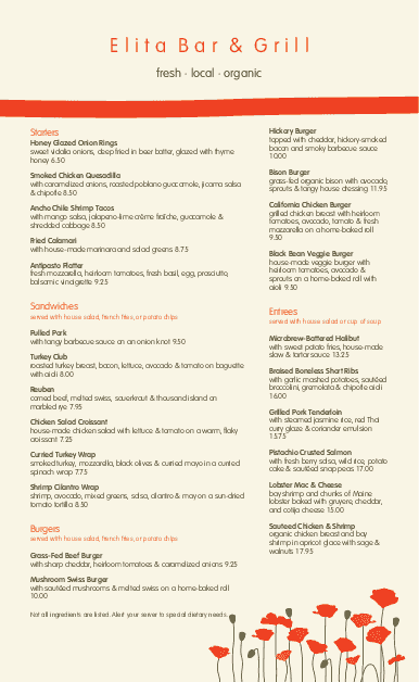 Customize Cafe Bistro Menu Long Page 2