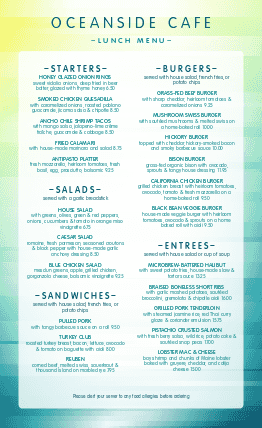 Customize Cafe Food Menu