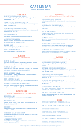 Customize Cafe Restaurant Menu Long