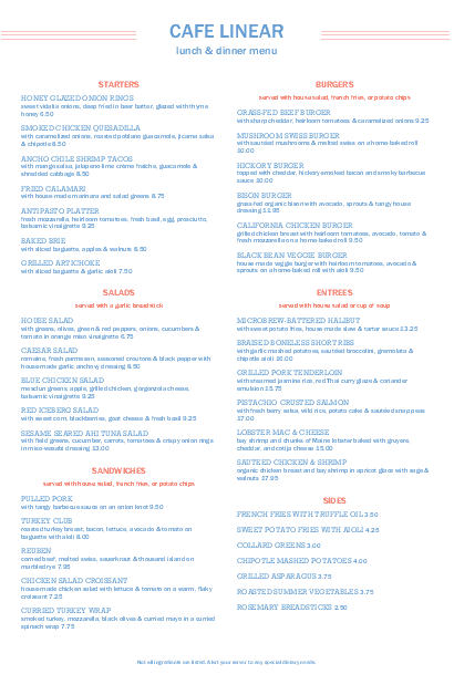 Customize Cafe Restaurant Menu Tabloid