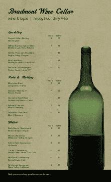 Cafe Wine List