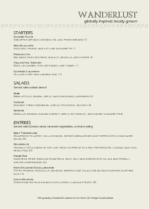 Customize Casual Dining A4 Menu