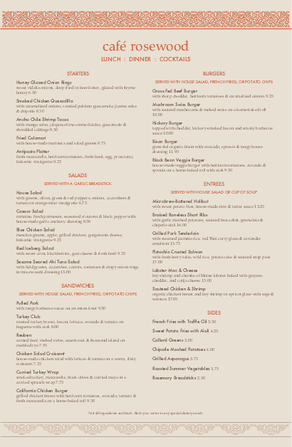 Customize Casual Restaurant Tabloid Menu