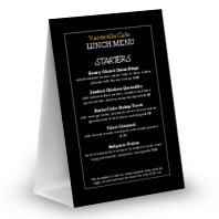 Table Tent Chalkboard Menu