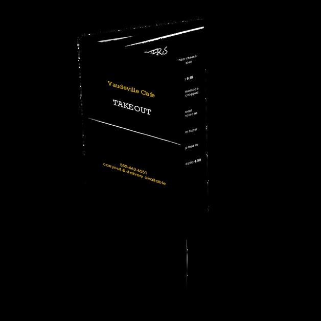 Chalkboard Cafe Trifold Menu Design Templates By