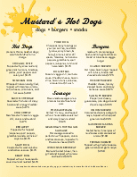 Chicago Hot Dog Menu