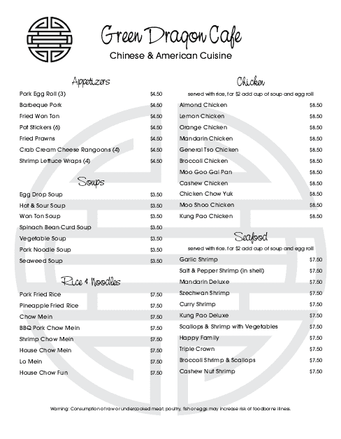 Customize Chinese Menu
