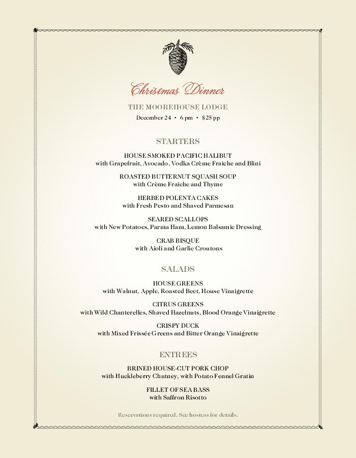 christmas menu template and designs musthavemenus