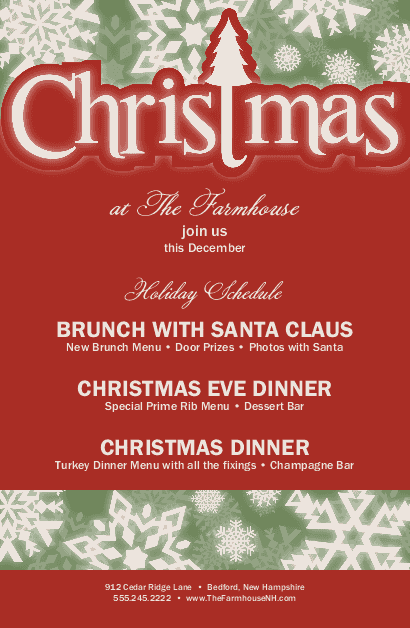 Christmas Event Flyer Christmas Flyer