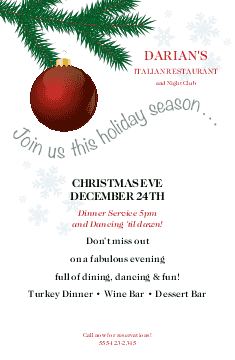 Red Ornament Christmas Flyer