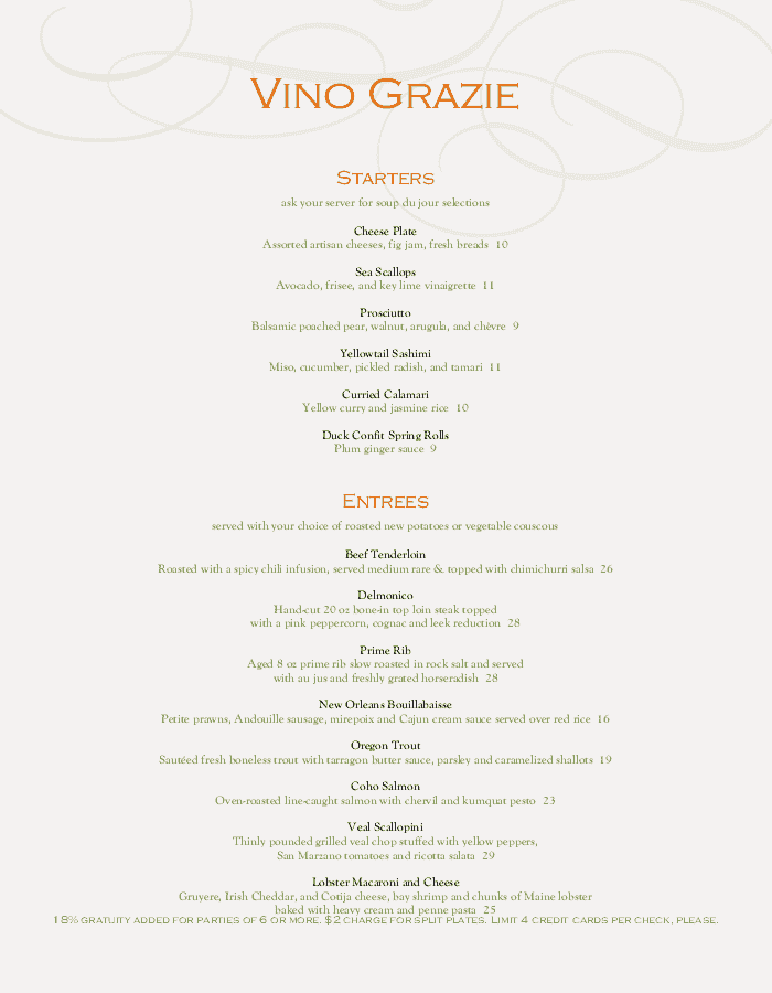 fine dining menu templates with elegant style musthavemenus