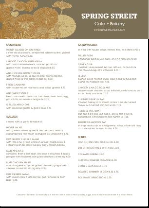 Customize A4 City Cafe Menu