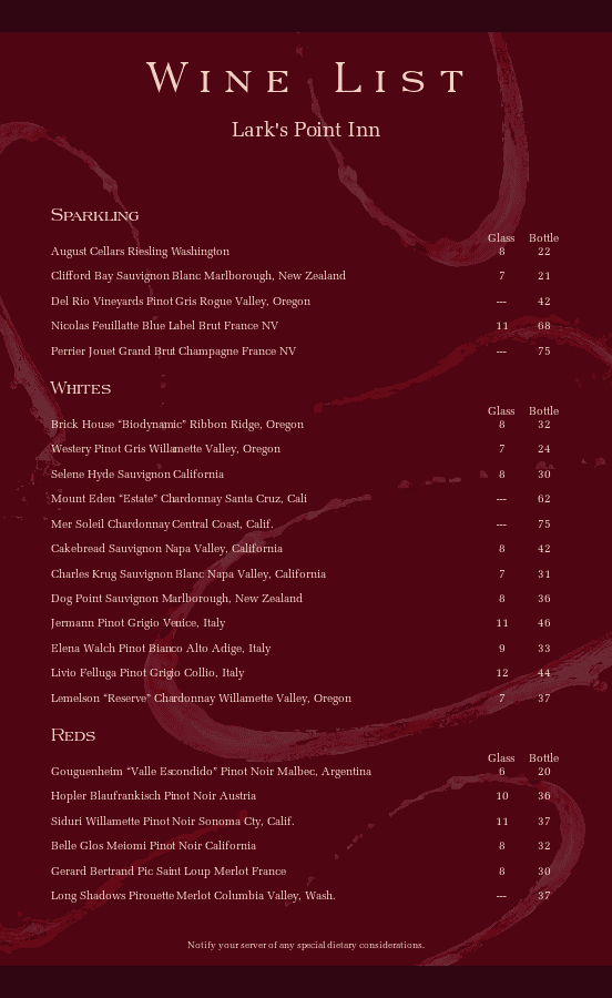 stunning bar menu templates and designs musthavemenus