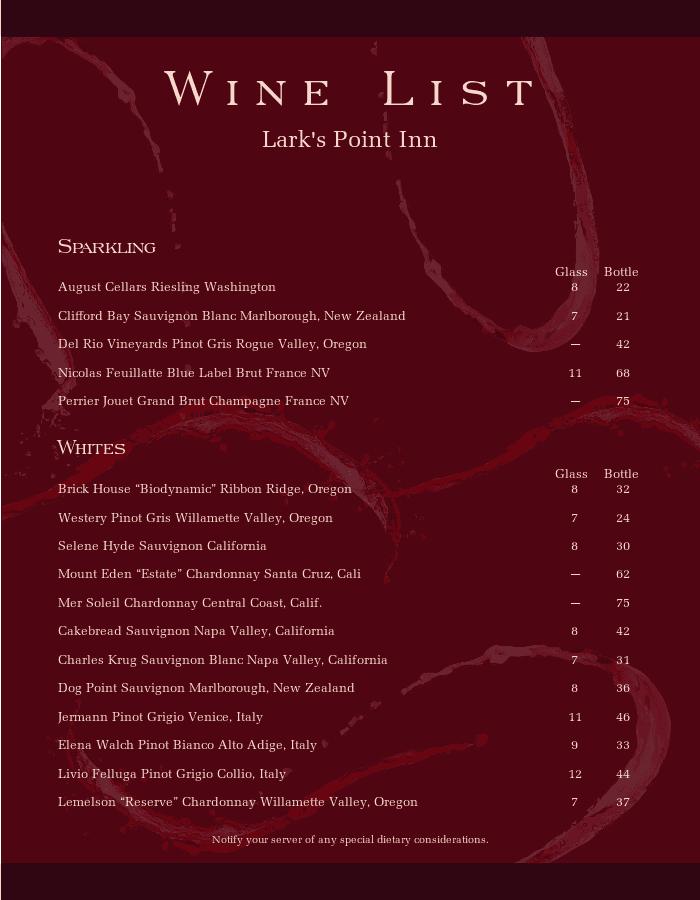 Classic Wine List