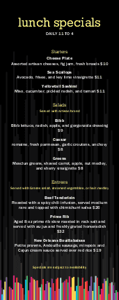 Customize Nightclub Happy Hour Menu