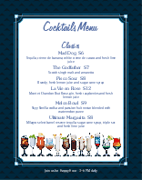 Cocktail Menu Poster