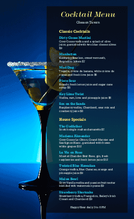 View Cocktails Menu
